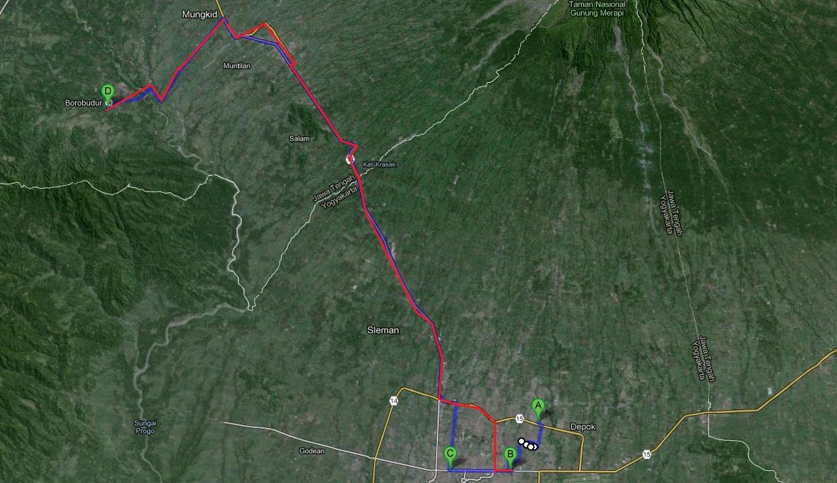 Rute Perjalanan Jogja-Borobudur